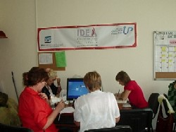 participants of the seminar during their work in Kherson IDEA Center